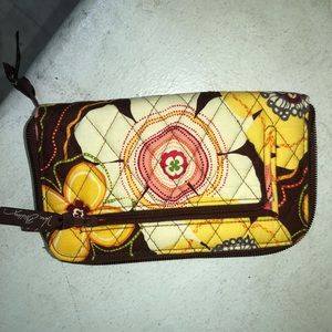 NWOT Vera Bradley wallet brown yellow flowers